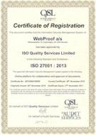 27001 WebProof's Certificate